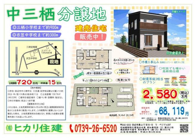 中三栖建売住宅広告